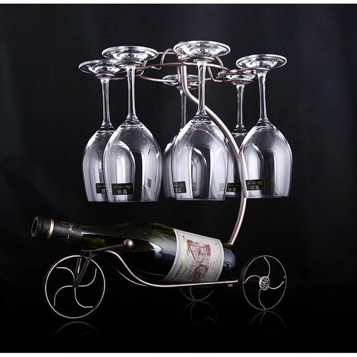 Decorative Racks Wine Bottle Holder Hanging Upside Down Cup Goblets Display Rack #Unbranded