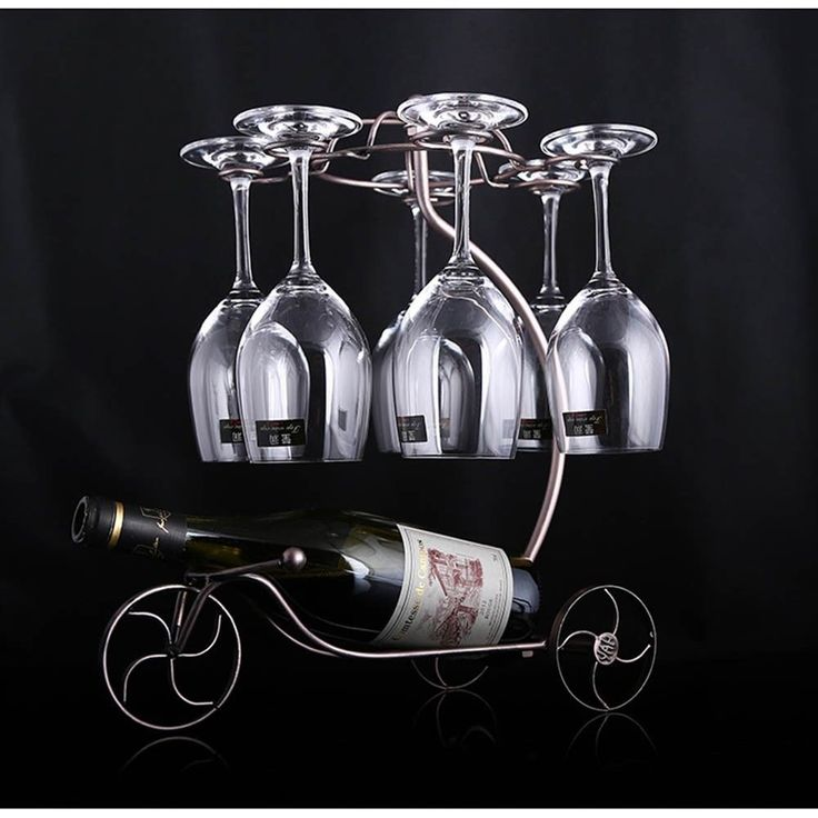 Decorative Racks Wine Bottle Holder Hanging Upside Down Cup Goblets Display Rack #Unbranded