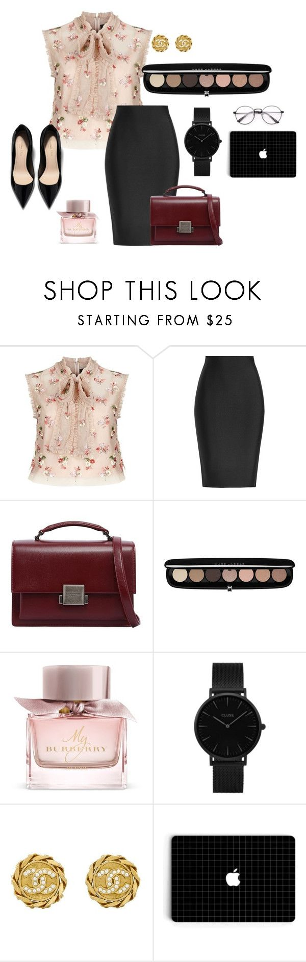 Work Outfit by creative-esprecielo on Polyvore featuring Needle & Thread, Roland Mouret, Yves Saint Laurent, CLUSE, Chanel, Marc Jacobs, Burberry, Girls, workoutfit and adult