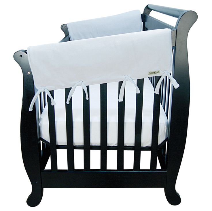 white wide side cribwrap rail cover by trend lab protect your baby and protect your