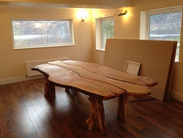 Hand Made Bespoke Solid Waney Edge Rustic Oak Kitchen