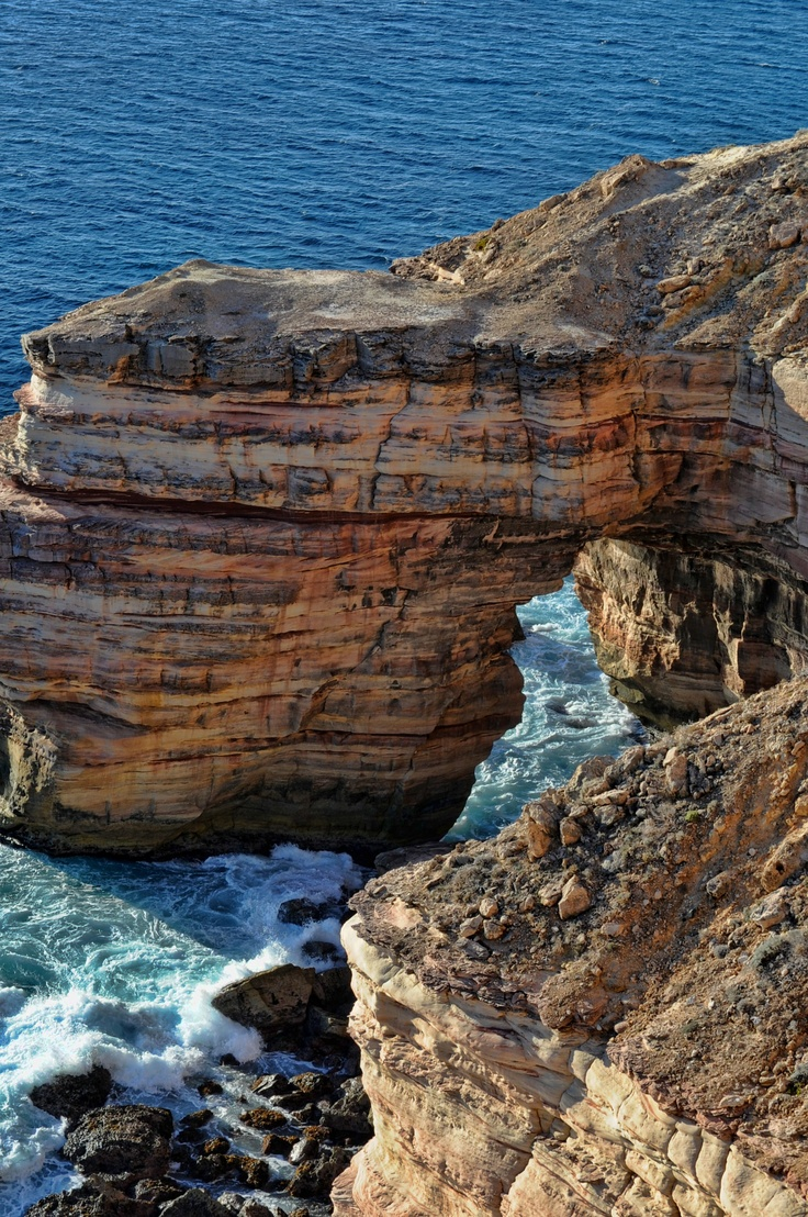 The Beautiful Textured Cliffs near Kalbarri..