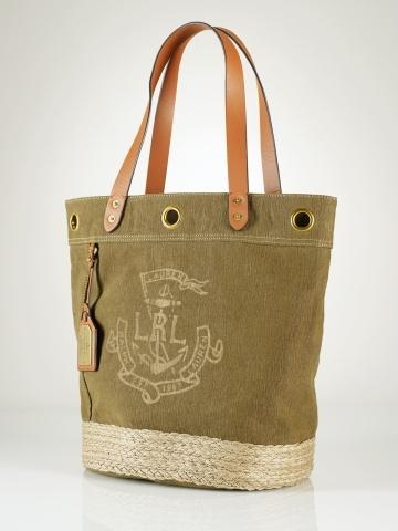 Nautical Canvas-Jute Tote - Lauren Lauren Handbags  - RalphLauren.com