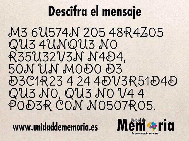 Descifra el mensaje.