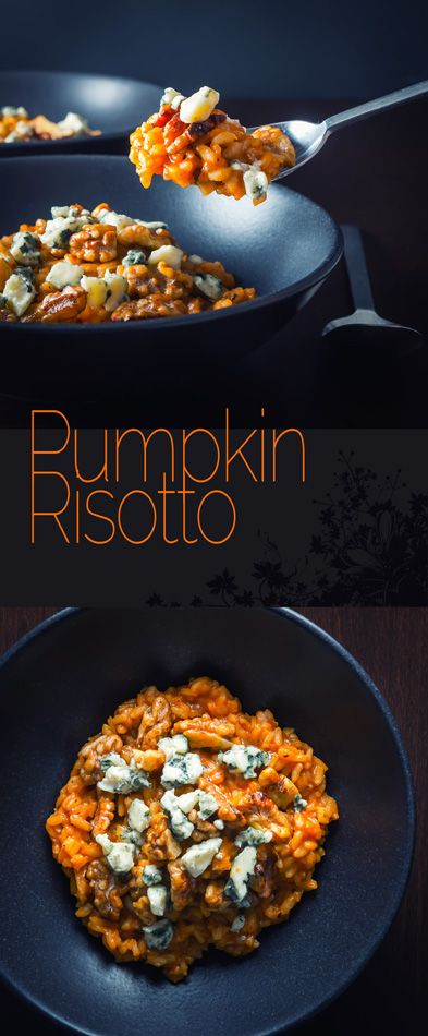 Autumn dinner recipe - I can't think of anything more homely than a good risotto and this pumpkin risotto sings with the flavours of autumn and winter!