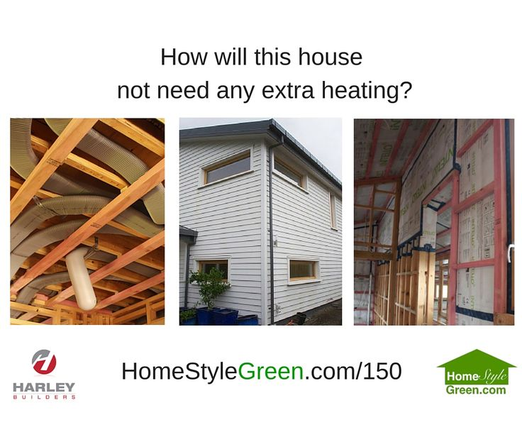 How will this Christchurch house not need any extra heating?