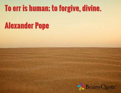 To Err Is Human to Forgive Is Divine Written in Chinese