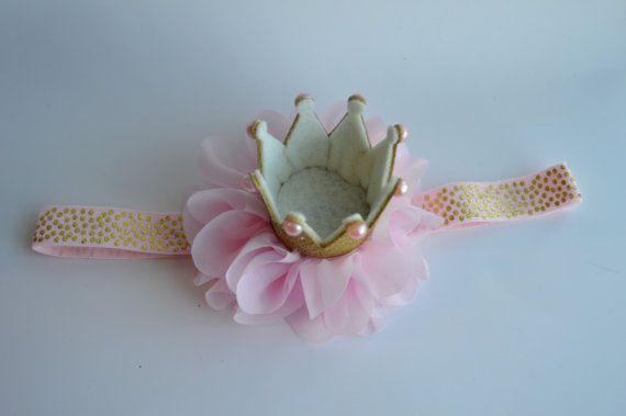 Bambino di colore rosa archetto Glitter oro di Moonpennieskids