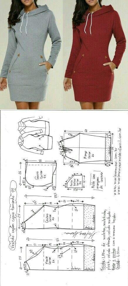 Perfektes Hoodie-Kleid für das kühlere Wetter #oberteile