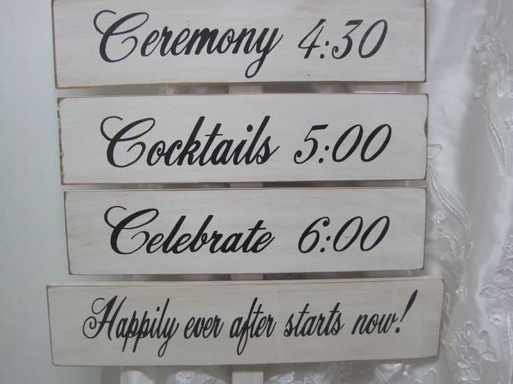 Rustic Wedding Signs Directional Decoration Arrow Wood Program Ceremony Reception on Stake. $79.00, via Etsy.