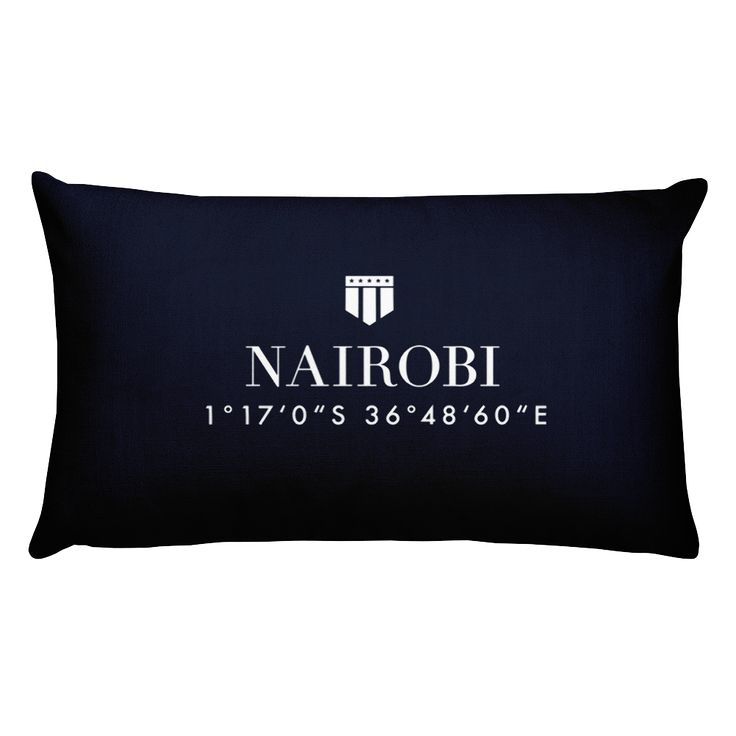 Nairobi, Africa Pillow with Coordinates