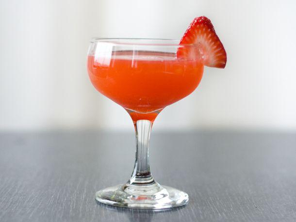 Strawberry Rhubarb Fields | Recipe | Cocktail glass ...