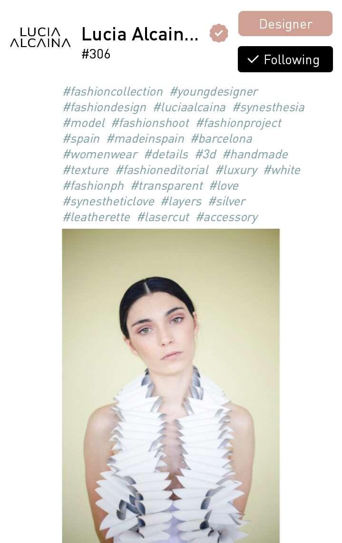 Lucia Alcaina, a designer from Barcelona, Spain.