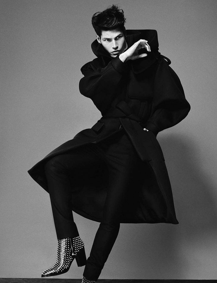 men's fashion & style - Sam Way by Anthony Meyer for August Man Malaysia High Fashion Poses, High Fashion Men, Fashion Model Poses, High Fashion Shoots, Fashion Fashion, Male Models Poses, Male Poses, High Fashion Photography, Photography Poses For Men