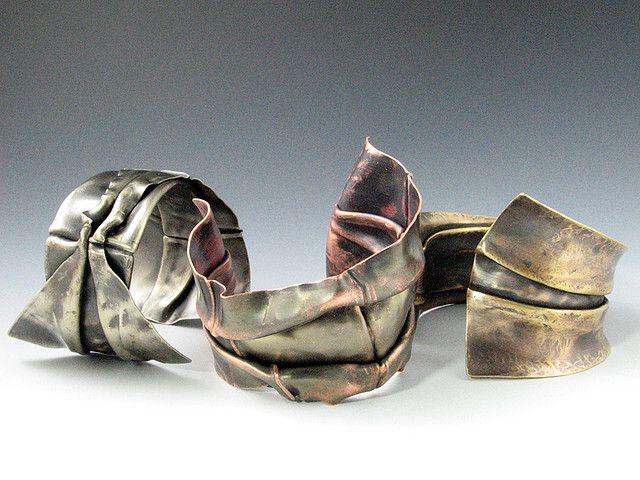 Fold-Formed CuffsForm Jewels, Form Metals, Foldforming Cuffs, Form Jewelry, Metalsmithing Jewelry, Folding Form, Metals Foldforming, Art Jewelry, Jewelry Folding