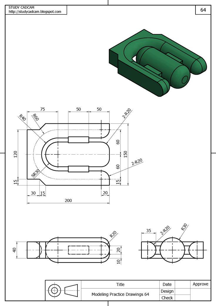 182 best 3d modeling practice images on pinterest for Cad blueprints