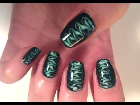 Smokey Swirly Toothpick Nail Art - YouTube