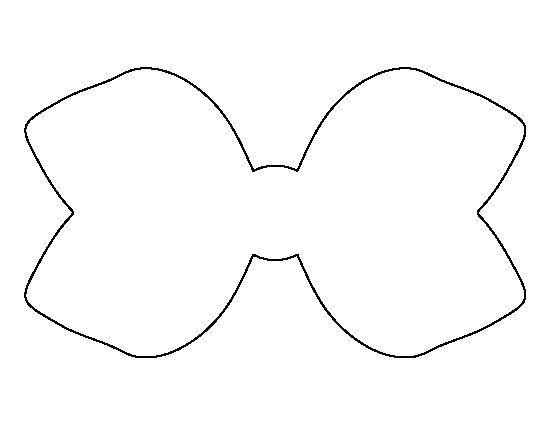 Hair bow pattern use the printable outline for crafts for Template of a bow