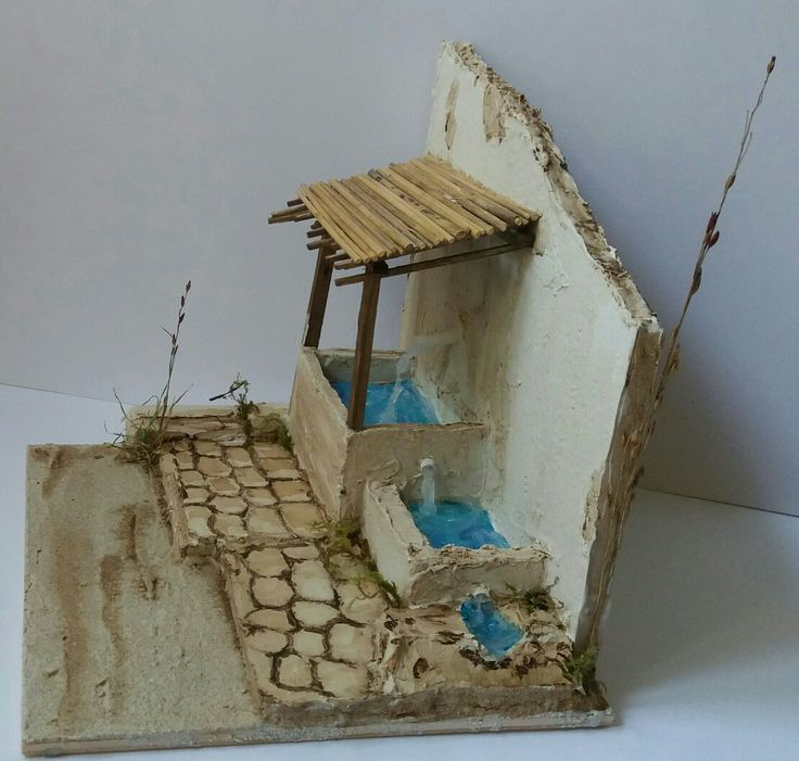 Fontana. Tecnica Polistirolo e Stucco.