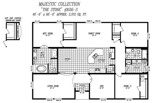 40x60 House Floor Plans Barn Home Pole Barn House