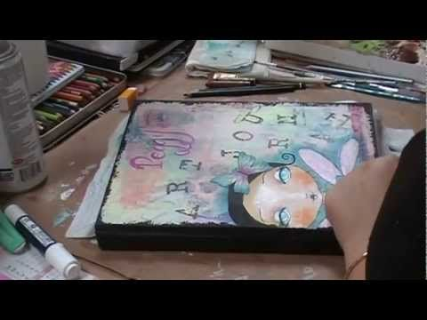 Mixed media : art journal make over.....oh my gosh!!!  I learned so much from watching this!!!  She is so talented!!!!