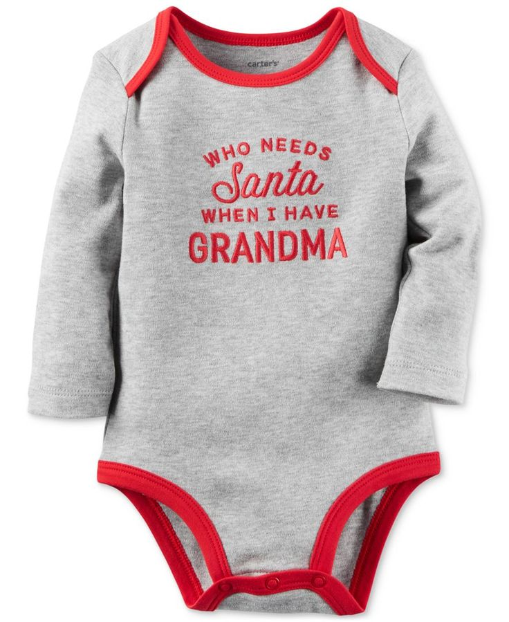 Carter's Who Needs Santa Bodysuit, Baby Boys or Baby Girls (0-24 months)