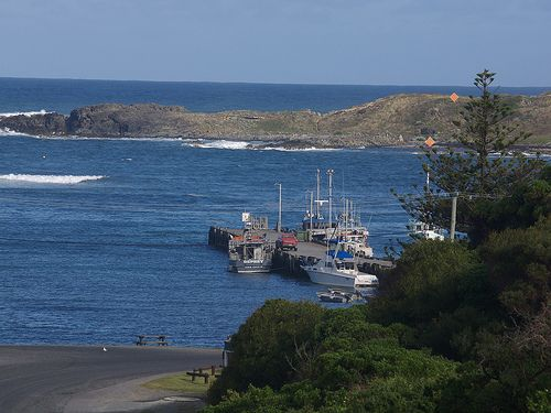 Currie Harbour and Devil Rocks, King Island