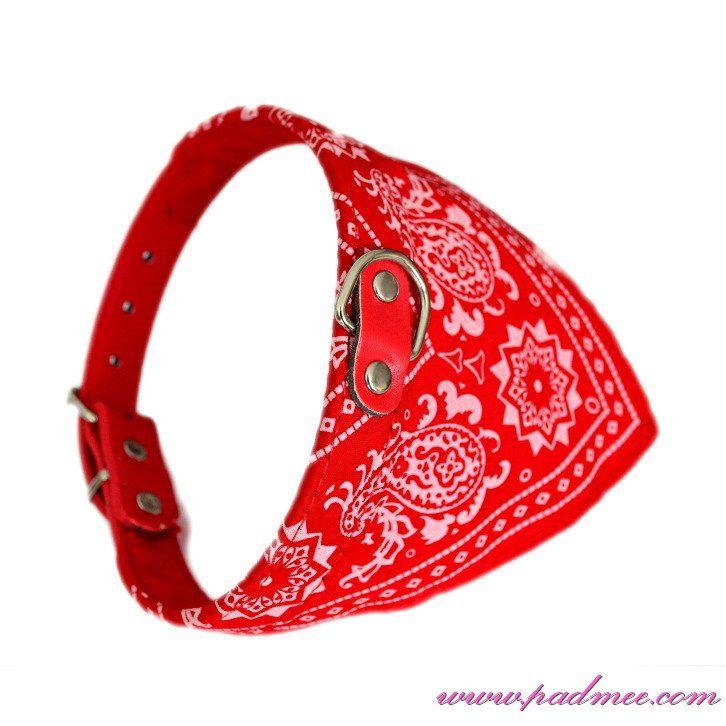 Collier Bandana pour chien Rouge Taille M