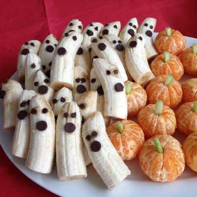 Not everything Halloween needs to be unhealthy!  Surprise your friends (even if you're a grown up) with something silly and sweet.