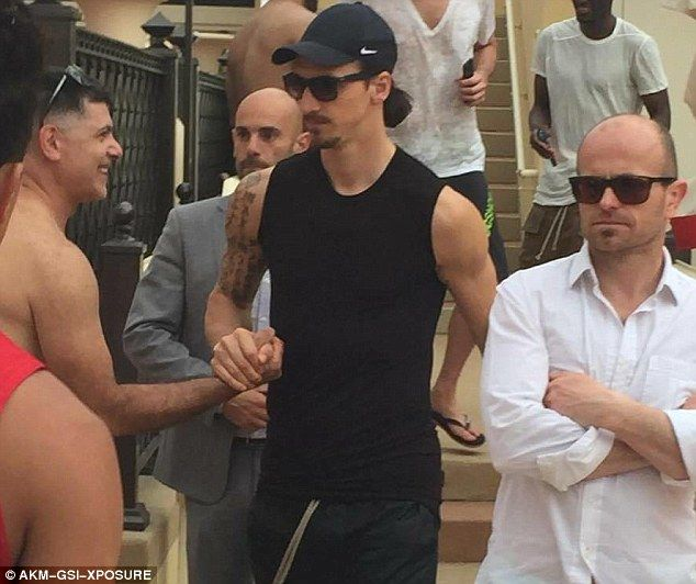 Zlatan Ibrahimovic joined team-mates Marco Verratti and Javier Pastore in taking a holiday to Las Vegas