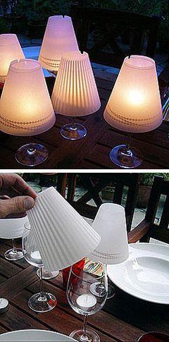 Petites lampes de table avec du papier translucide. Joli !!! #DIY #papiercalque