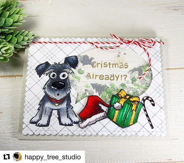 #Repost @happy_tree_studio with @repostapp ・・・ Christmas already!? I love his facial expressions! 😆 #timholtz #stampersanonymous #lawnfawn #mamaelephant #mftstamps #simonsaysstamp #thedailymarker30day #copic #christmascard #cardmaking  もうクリスマスなのっ⁉︎っていう顔😁 #クリスマスカード #ハンドメイド #クロップパーティー #ハンドメイドカード