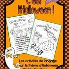 C'est l'Halloween! Voici des activités langagières toutes sur le thème d'Halloween.   This package contains 6 literacy activities to help students ...