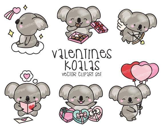 Premium Vector Clipart Kawaii Valentines Day Koalas Valentines Day Koala Clipart High Quality Vectors Kawaii Valentine Valentines Day Drawing Clip Art