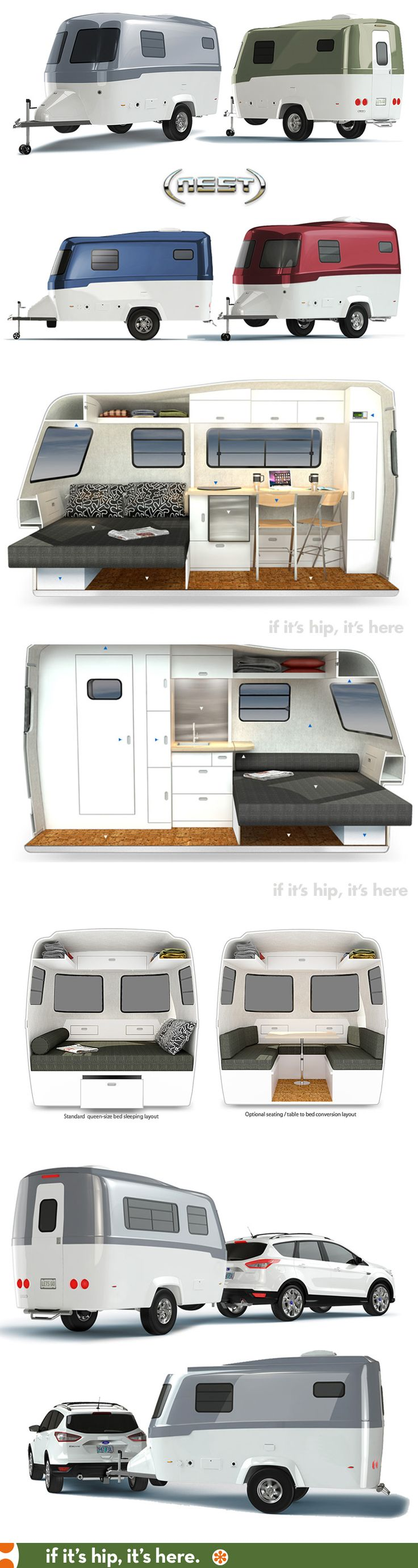 The new modern streamlined customizable trailer, the Nest, is loaded with features and is available for pre-order.