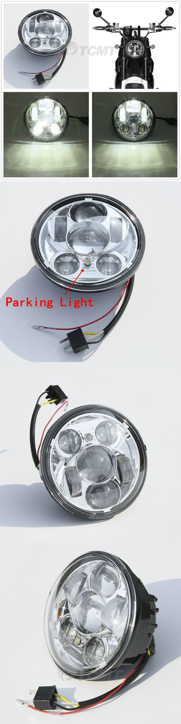 motorcycle parts: 5.75 Daymaker Projector Led Headlight Light For Harley Dyna Softail Sportster -> BUY IT NOW ONLY: $44.98 on eBay!