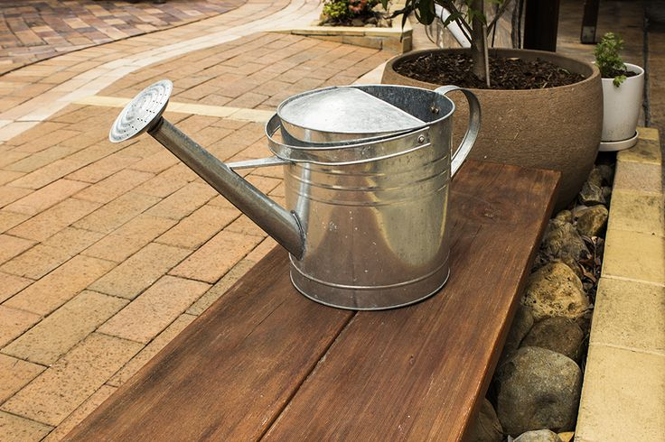 We love our little garden terrace, which makes up a big part of our dining experience and what garden would be complete without a trusty watering can.