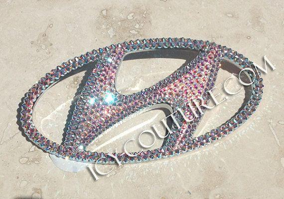 HYUNDAI Crystal Bling Swarovski Bling  Emblem by IcyCouture, $151.54... FINALLY I found one for my Hyundai