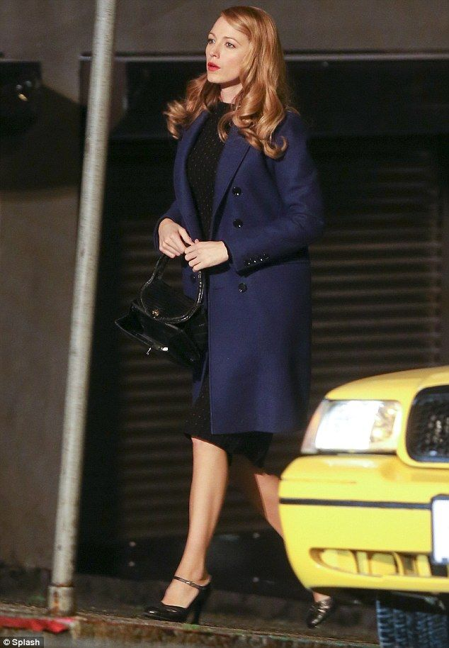 Getting in character: Blake Lively was seen shooting for her upcoming film, Age Of Adaline, in Vancouver on Friday