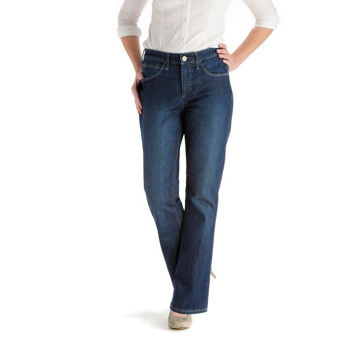 Lee Weston Comfort Waist Bootcut Jeans, Women's, Size: 8 - regular, Blue