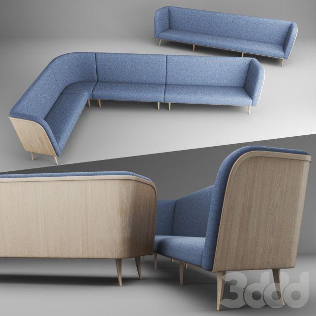 Модульный диван для ресторана