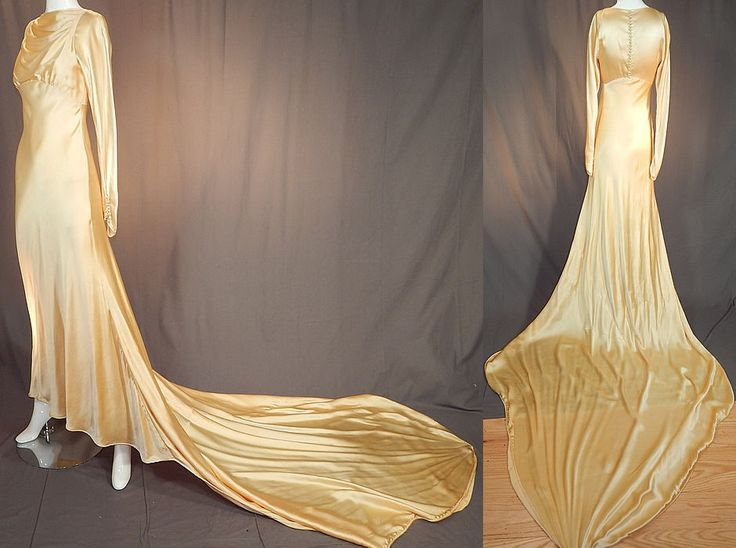 1000 images about 1930 39 s wedding fashions on pinterest for Silk charmeuse wedding dress