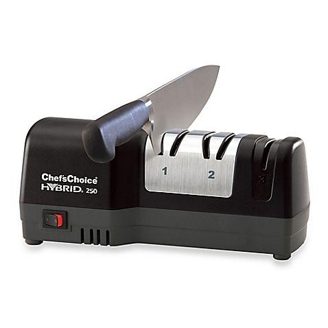 Chef'sChoice® Hybrid® 250 Diamond Hone® Knife Sharpener in Black