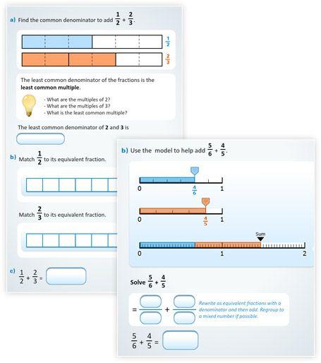 The BuzzMath Blog - New BuzzMath Document - Adding Fractions Using