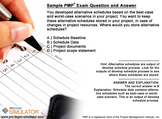 19 best images about PMP exam question sample on Pinterest - project schedule sample