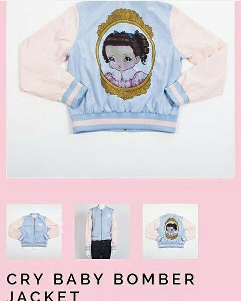 NEW crybaby bomber jacket $60.00 Melanie Martinez