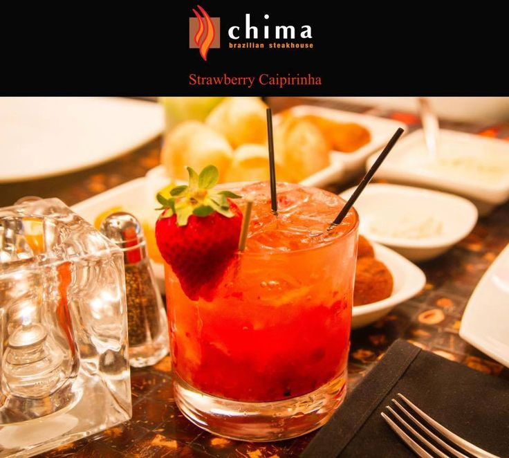 """*CELEBRATE NATIONAL CACHAÇA DAY WITH CHIMA* - Featuring Strawberry Caipirinha -  Take a sip in our delicious Strawberry Caipirinha! It's all you need to do to fall in love with one of our famous signature drink the """"Caipirinha"""". Made with fresh strawberries and the famous Cachaça (Brazilian White Rum), our caipirinhas are sure to bring fun and excitement to your night!  >> Call us now at (215) 525-3233 to book your reservations! <<"""