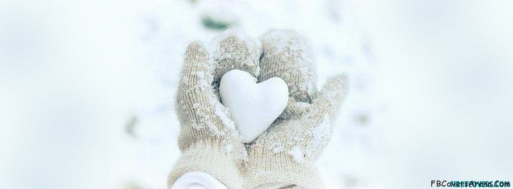 Winter Love Heart Touching Facebook Cover