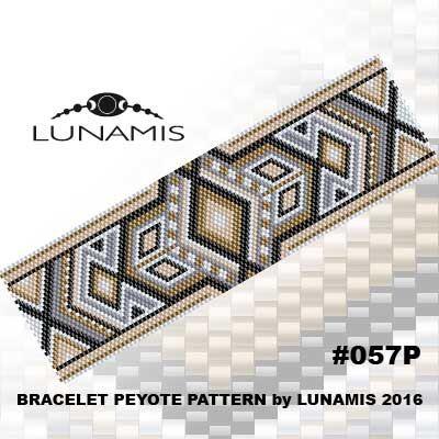 Modèle bracelet Peyote, motif de peyotl, modèle de point, fichier pdf, pdf…