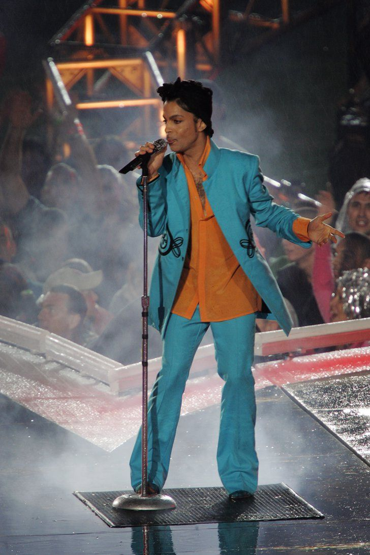 Pin for Later: Saying Goodbye to a Legend: A Tribute to Prince's Electrifying Style  Performing at the Super Bowl XLI halftime show in 2007.